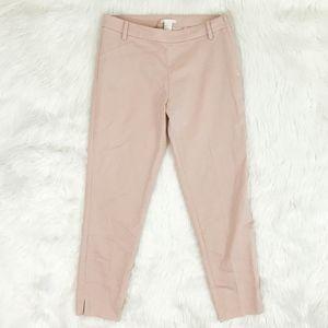 H&M Blush Dress Pant Career Size 8 Side Zip